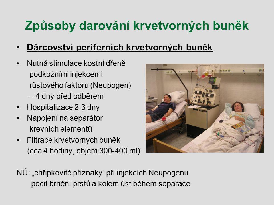 Způsoby darování krvetvorných buněk