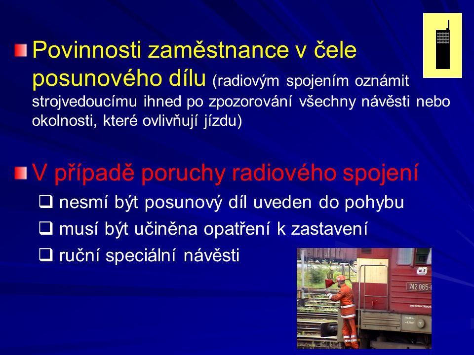 V případě poruchy radiového spojení