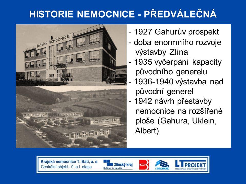 HISTORIE NEMOCNICE - PŘEDVÁLEČNÁ