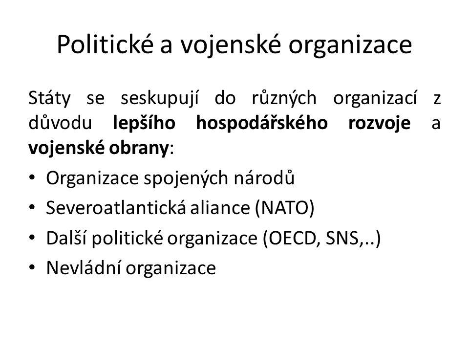 Politické a vojenské organizace