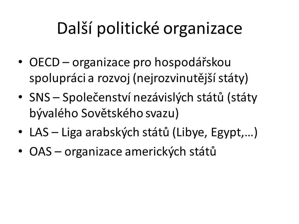 Další politické organizace