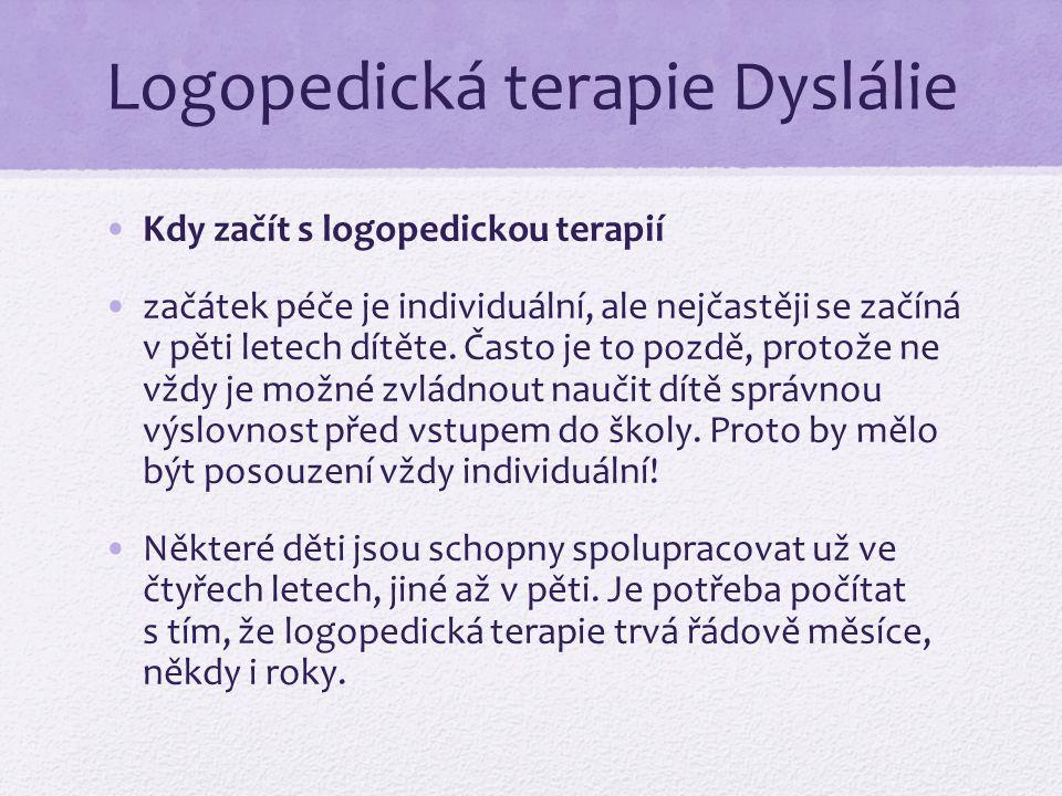 Logopedická terapie Dyslálie