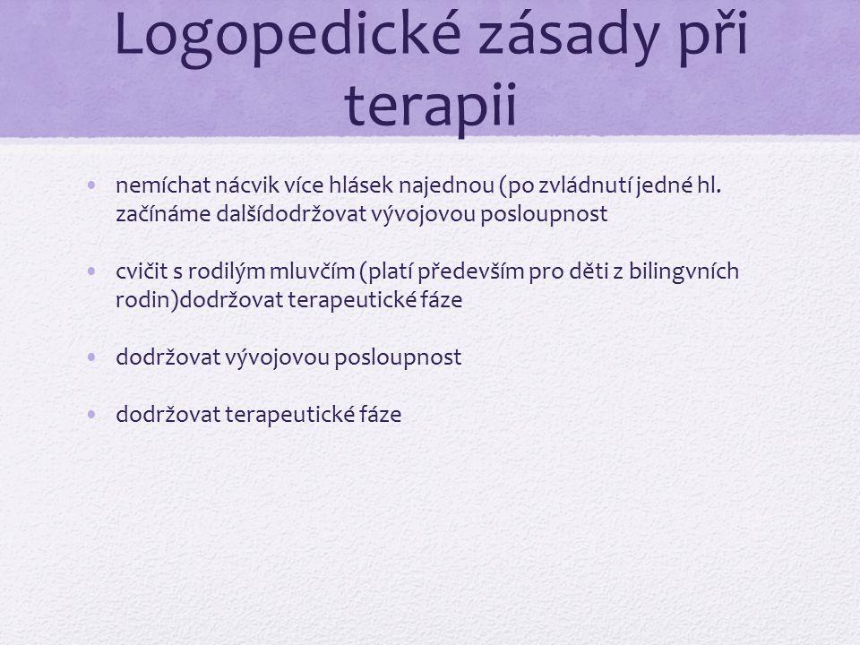 Logopedické zásady při terapii