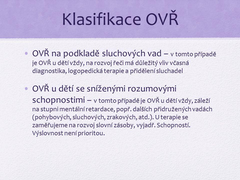 Klasifikace OVŘ