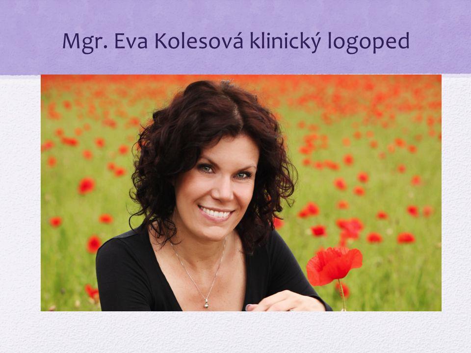 Mgr. Eva Kolesová klinický logoped