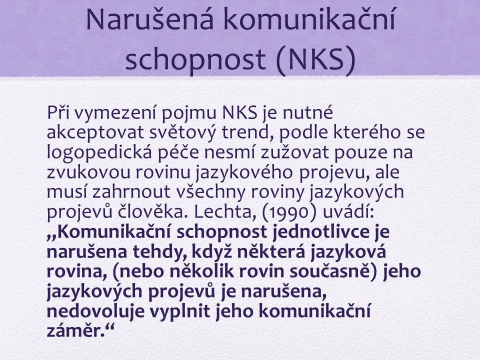 Narušená komunikační schopnost (NKS)