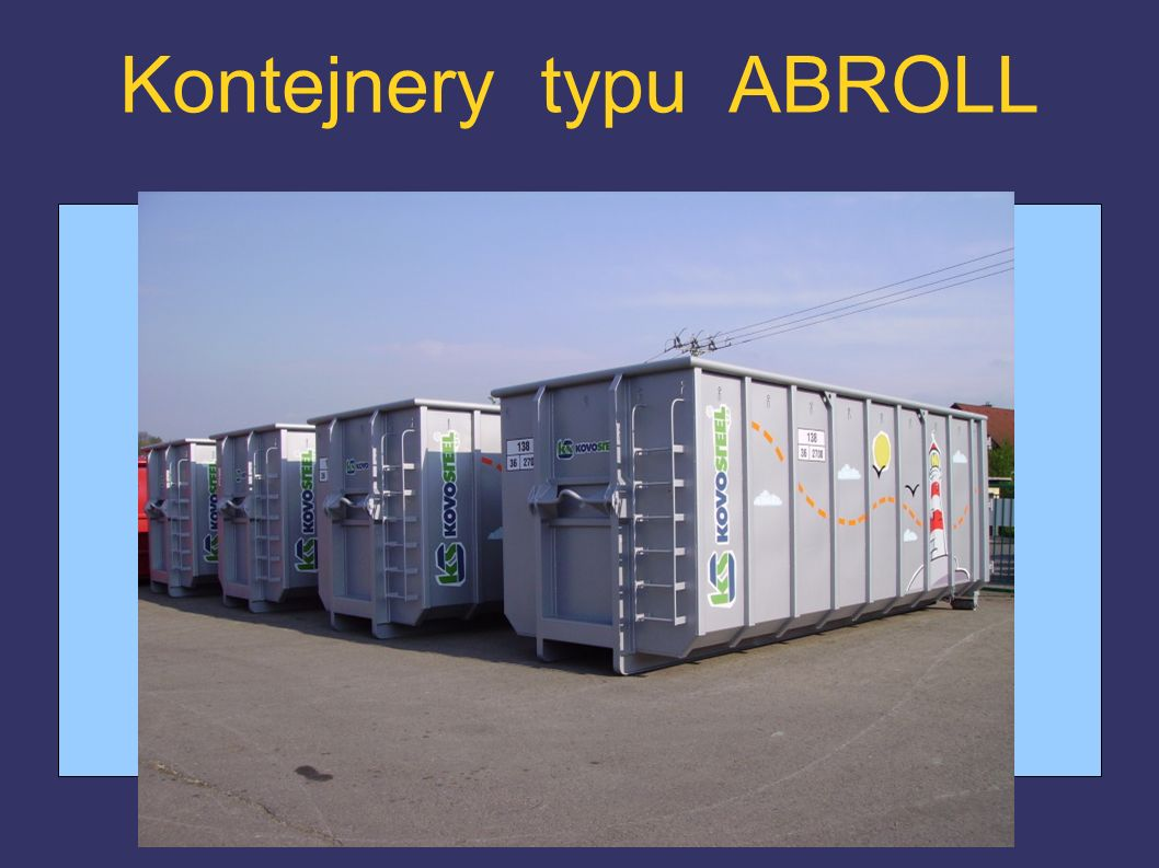 Kontejnery typu ABROLL