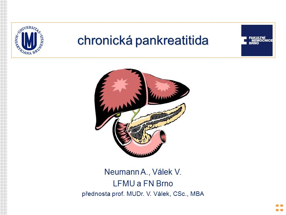 chronická pankreatitida