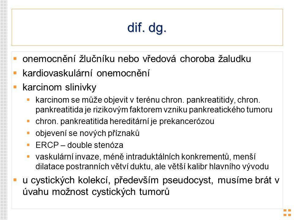 dif. dg. onemocnění žlučníku nebo vředová choroba žaludku