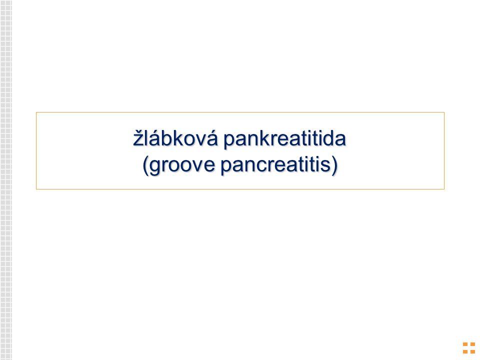 žlábková pankreatitida (groove pancreatitis)