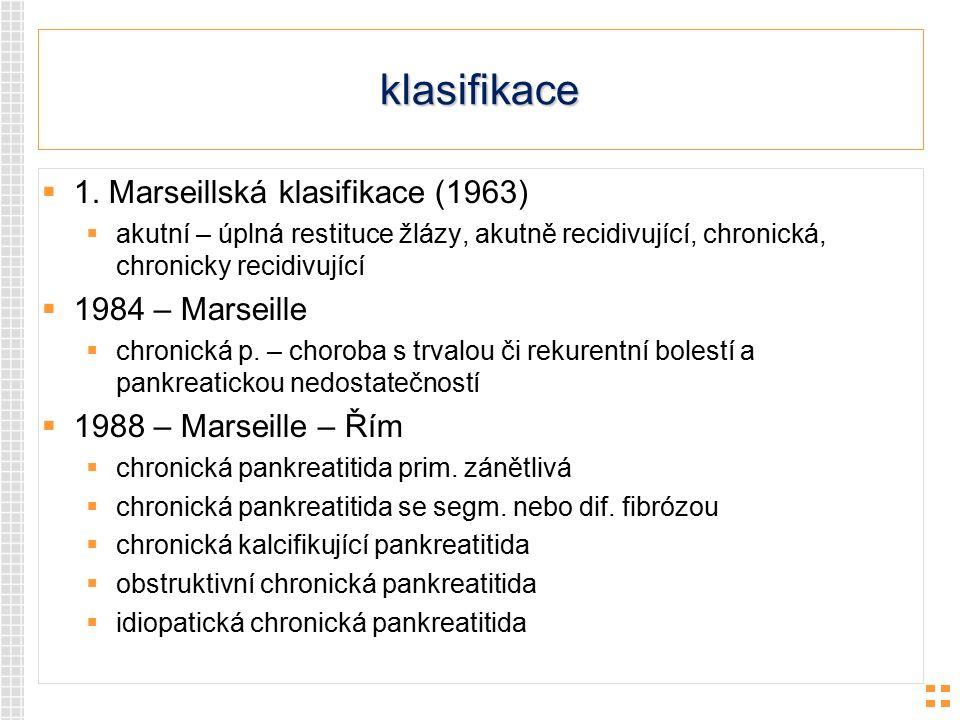 klasifikace 1. Marseillská klasifikace (1963) 1984 – Marseille