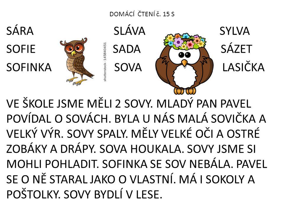 DOMÁCÍ ČTENÍ č. 15 S