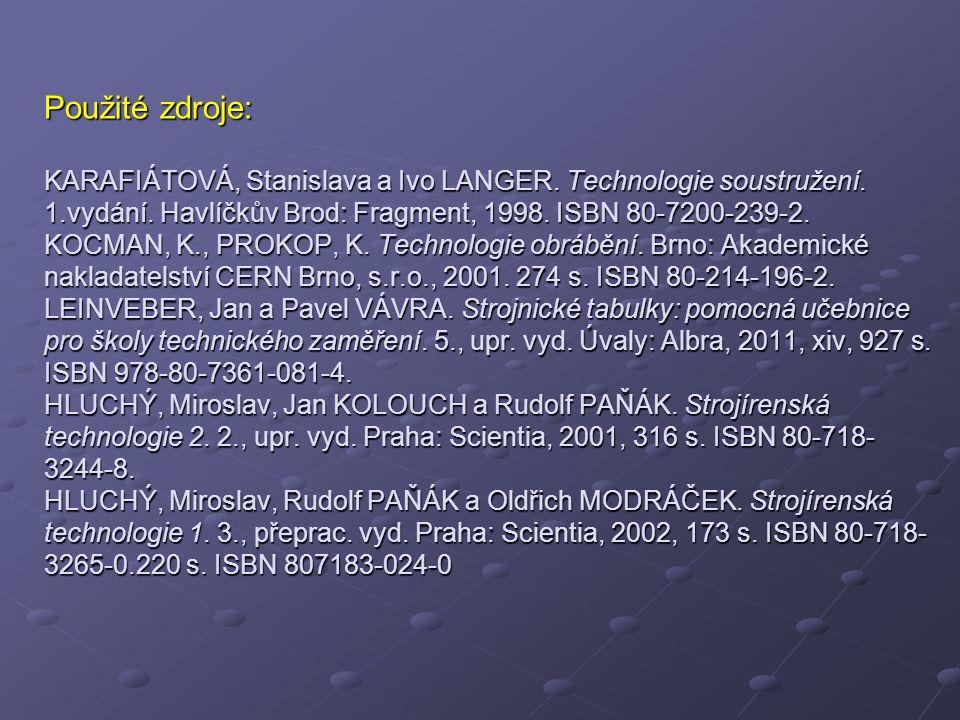 Použité zdroje: KARAFIÁTOVÁ, Stanislava a Ivo LANGER