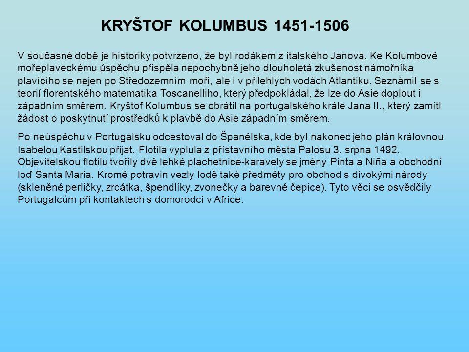 KRYŠTOF KOLUMBUS 1451-1506