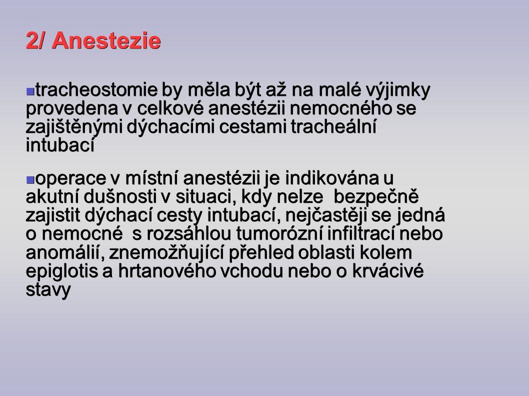 2/ Anestezie