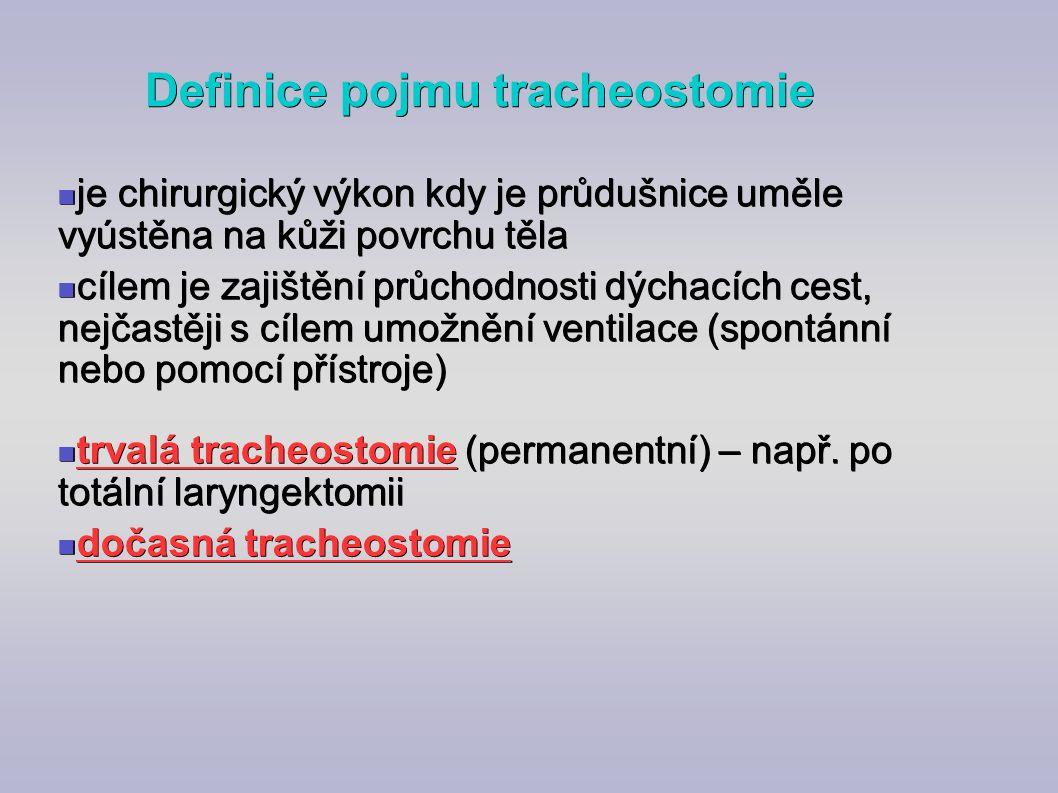 Definice pojmu tracheostomie