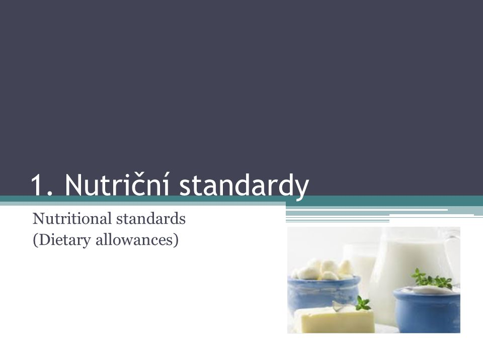 Nutritional standards (Dietary allowances)