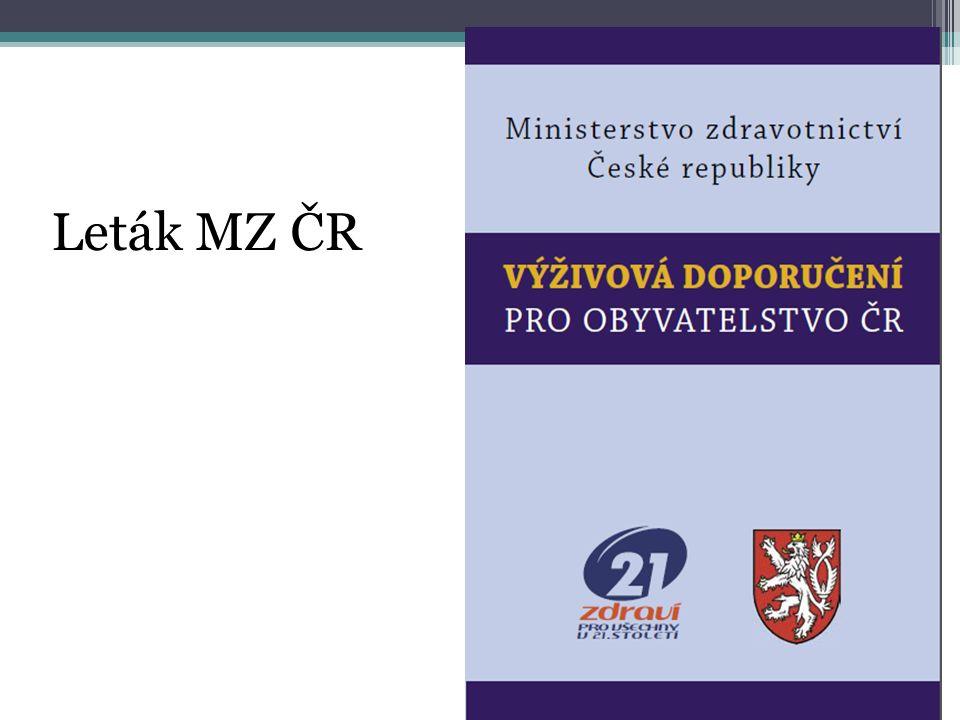 Leták MZ ČR