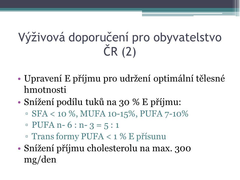 Výživová doporučení pro obyvatelstvo ČR (2)