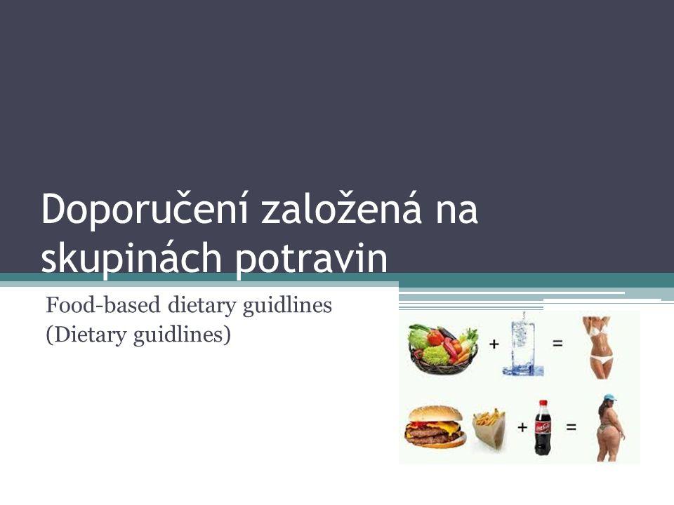 Doporučení založená na skupinách potravin