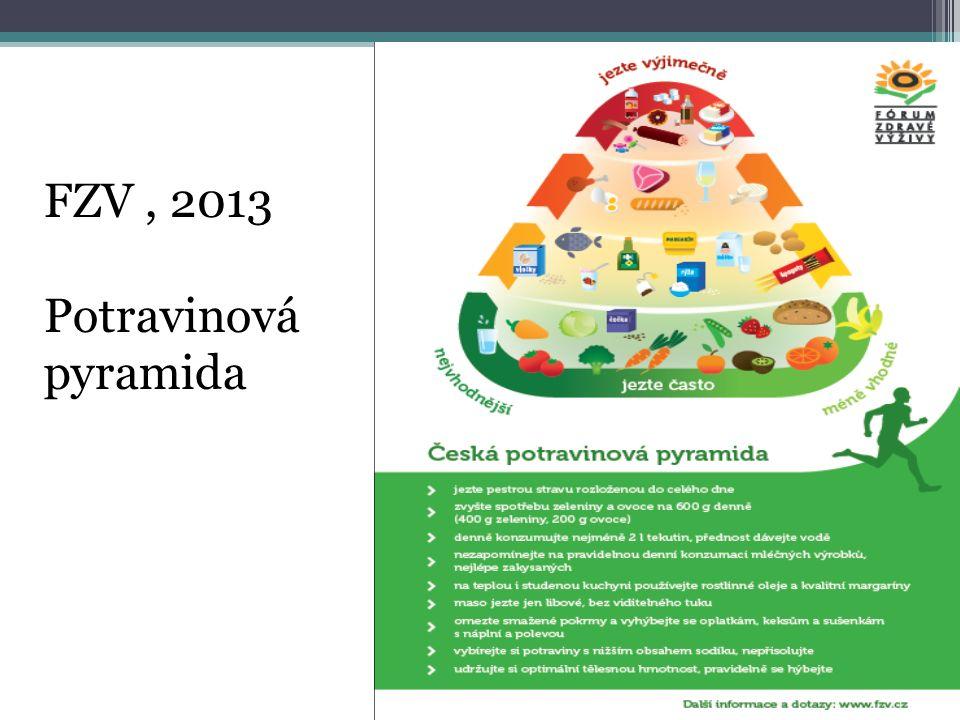 FZV , 2013 Potravinová pyramida