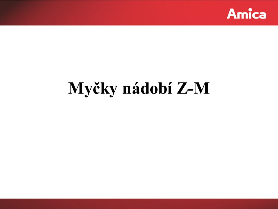 Myčky nádobí Z-M