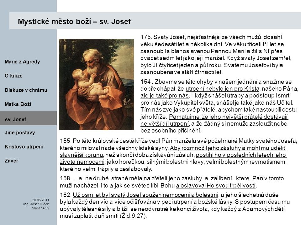 Mystické město boží – sv. Josef