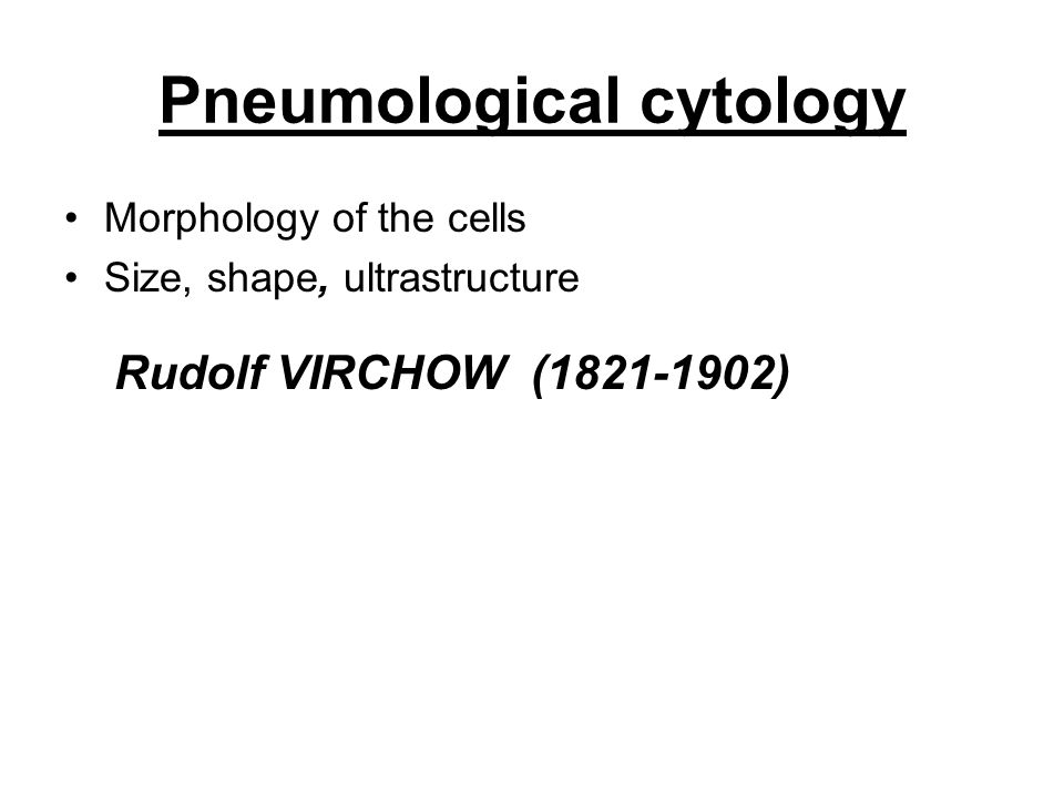 Pneumological cytology