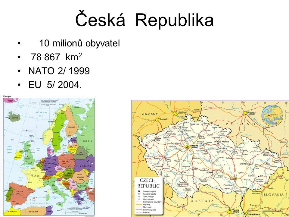 Česká Republika 10 milionů obyvatel 78 867 km2 NATO 2/ 1999