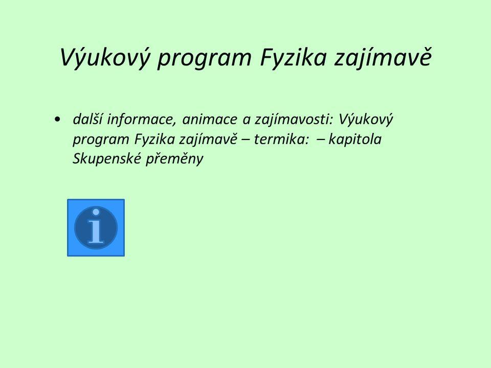 Výukový program Fyzika zajímavě