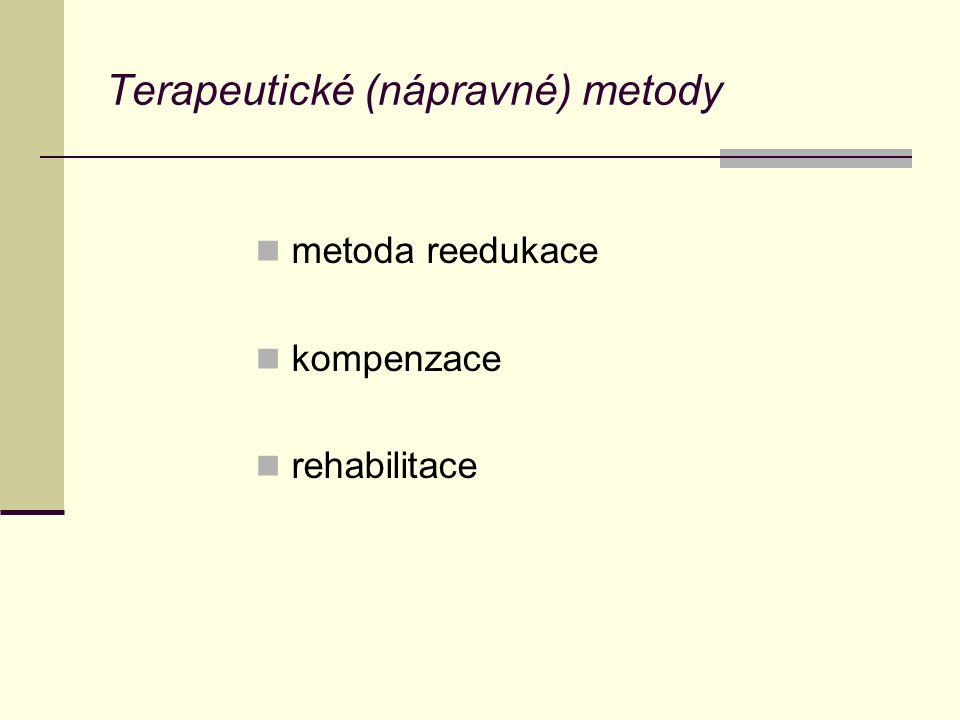 Terapeutické (nápravné) metody