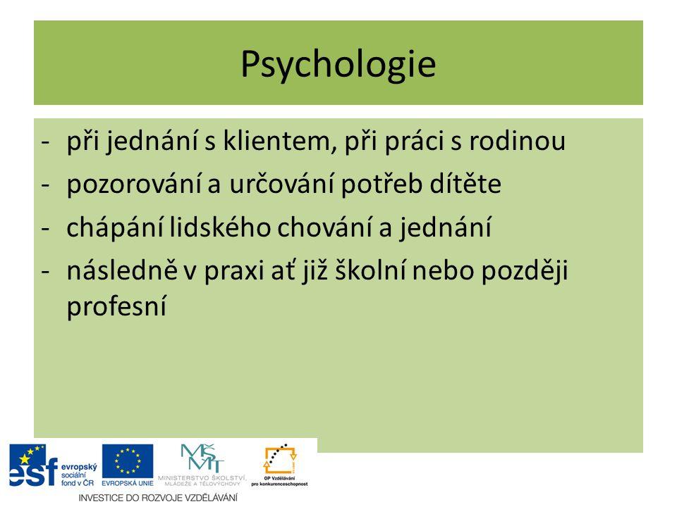 Psychologie při jednání s klientem, při práci s rodinou