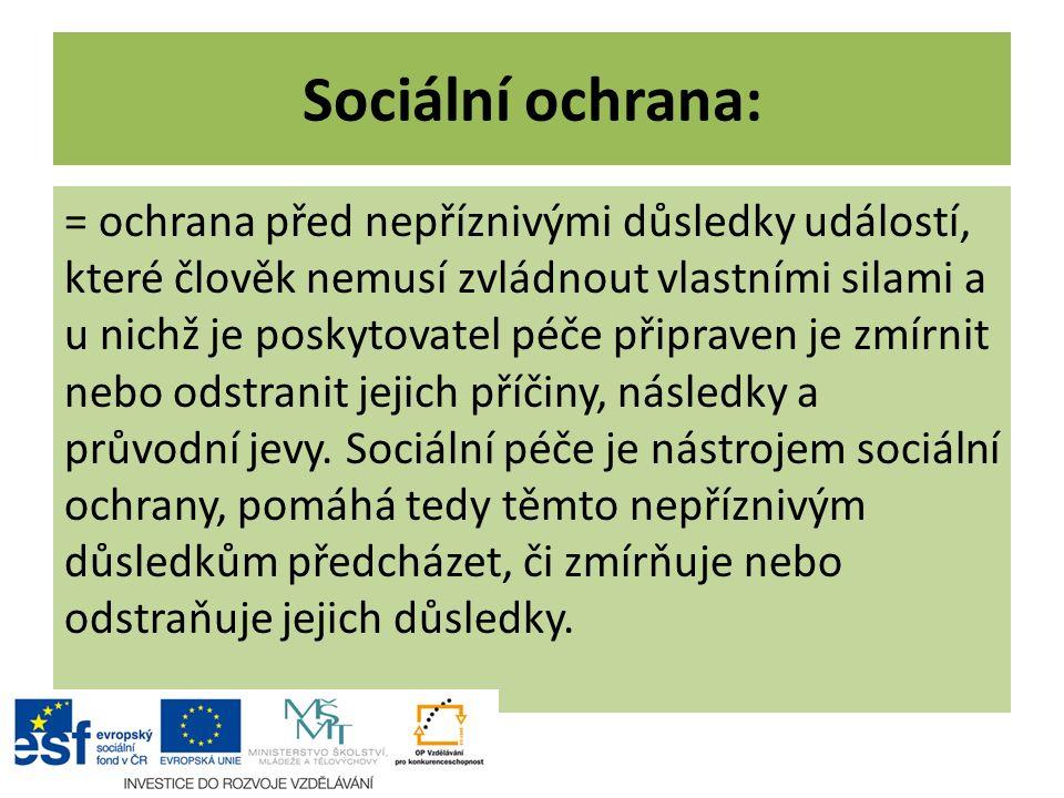 Sociální ochrana: