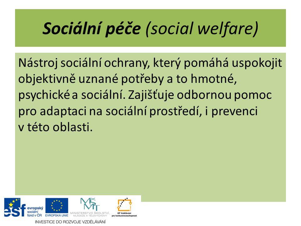 Sociální péče (social welfare)