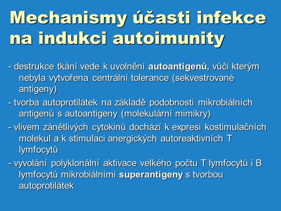 Mechanismy účasti infekce na indukci autoimunity
