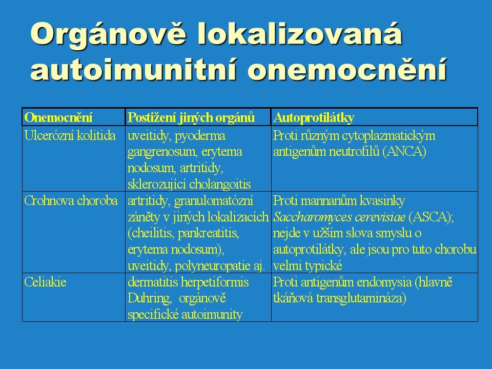 Orgánově lokalizovaná autoimunitní onemocnění