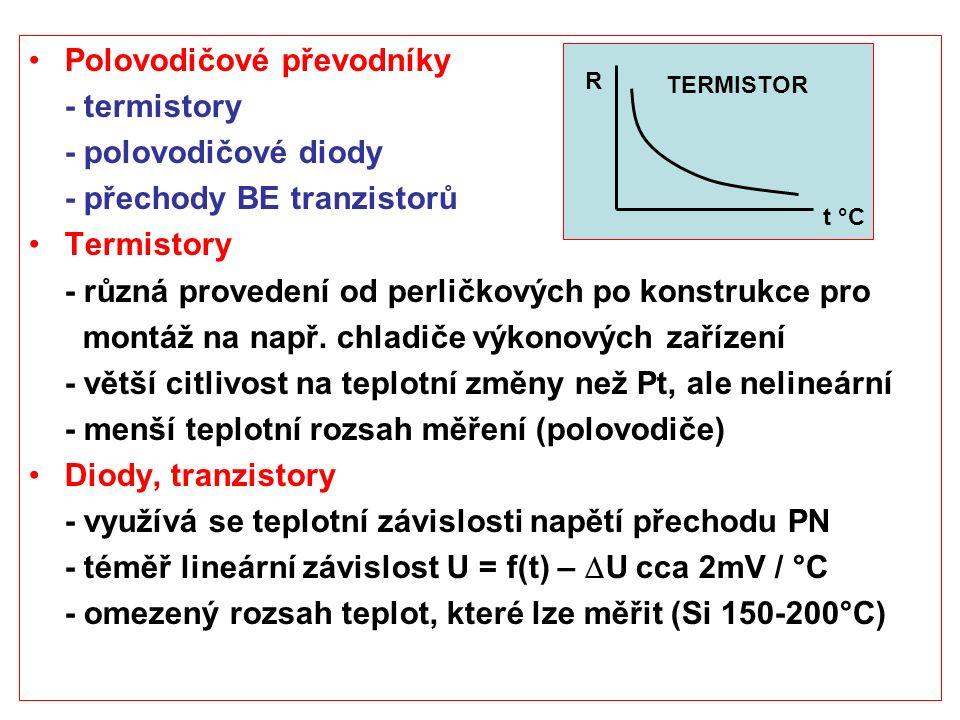 Polovodičové převodníky - termistory - polovodičové diody