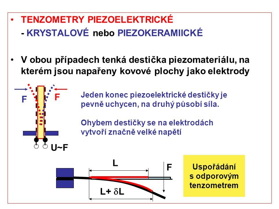 TENZOMETRY PIEZOELEKTRICKÉ - KRYSTALOVÉ nebo PIEZOKERAMIICKÉ