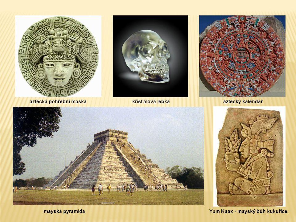 aztécká pohřební maska