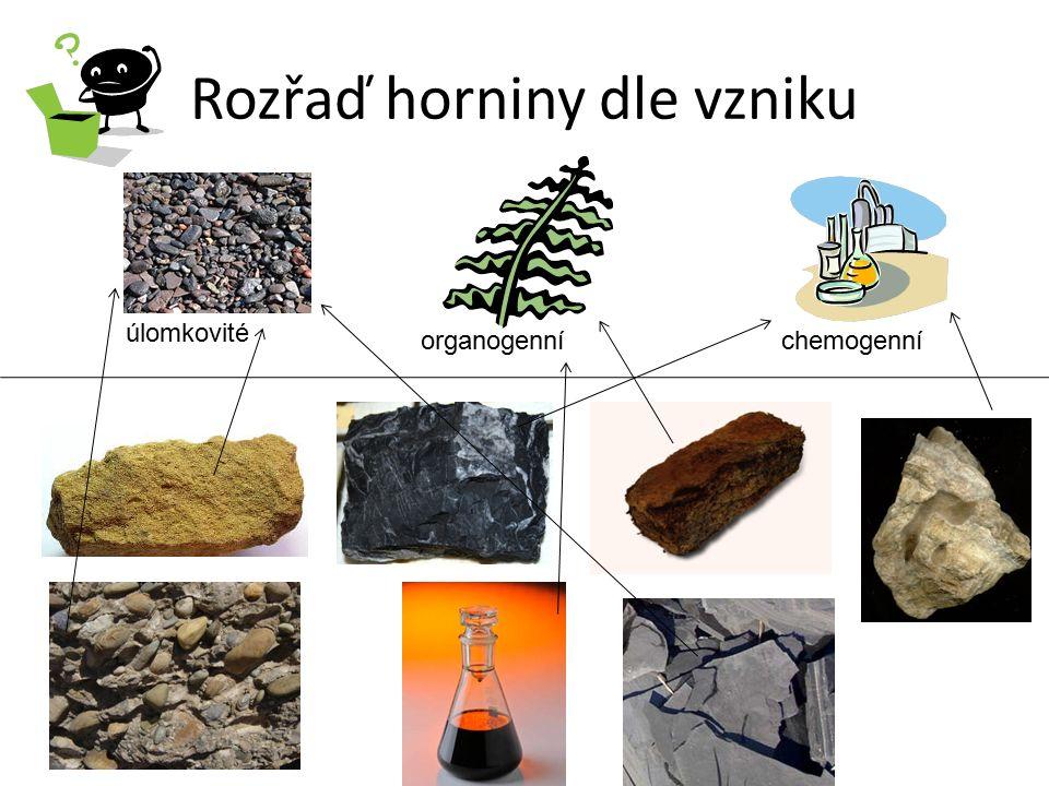 Rozřaď horniny dle vzniku