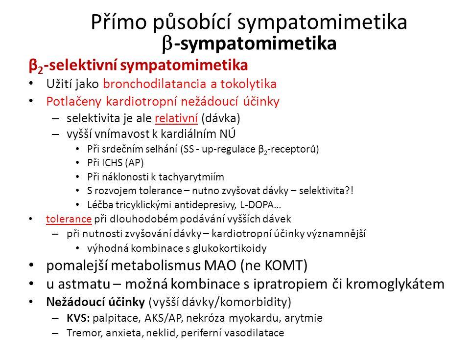 Přímo působící sympatomimetika -sympatomimetika