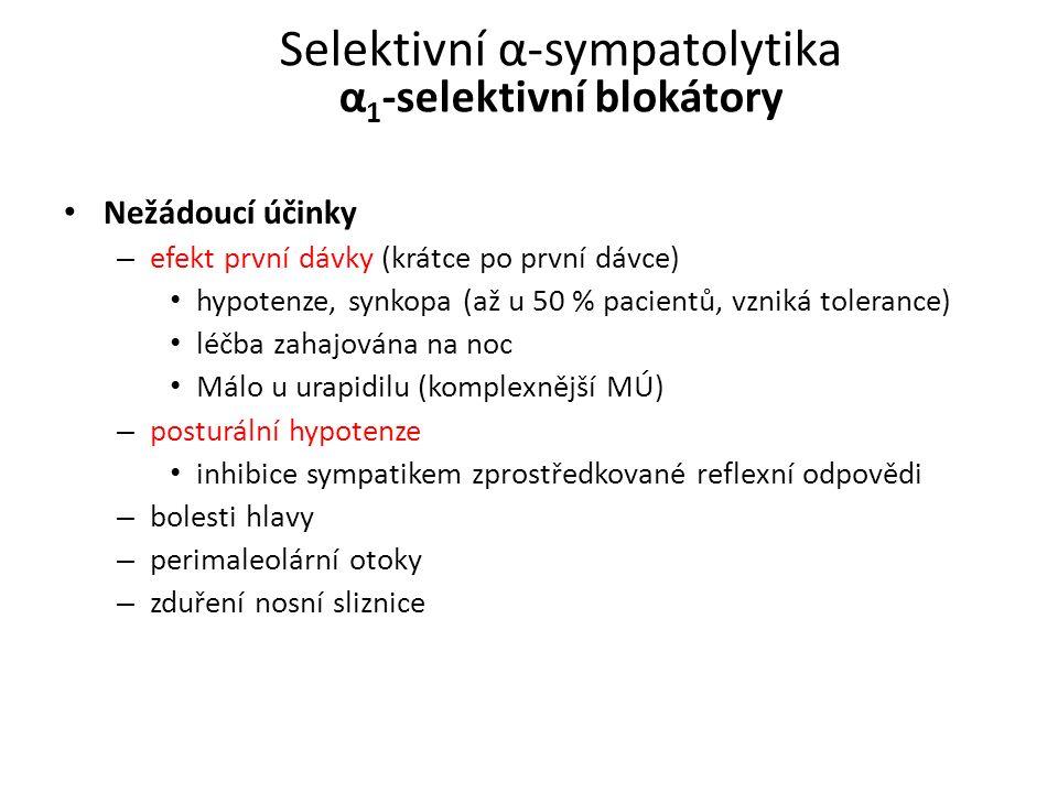 Selektivní α-sympatolytika α1-selektivní blokátory