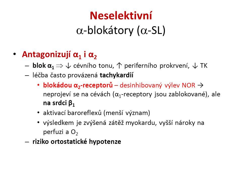 Neselektivní -blokátory (-SL)