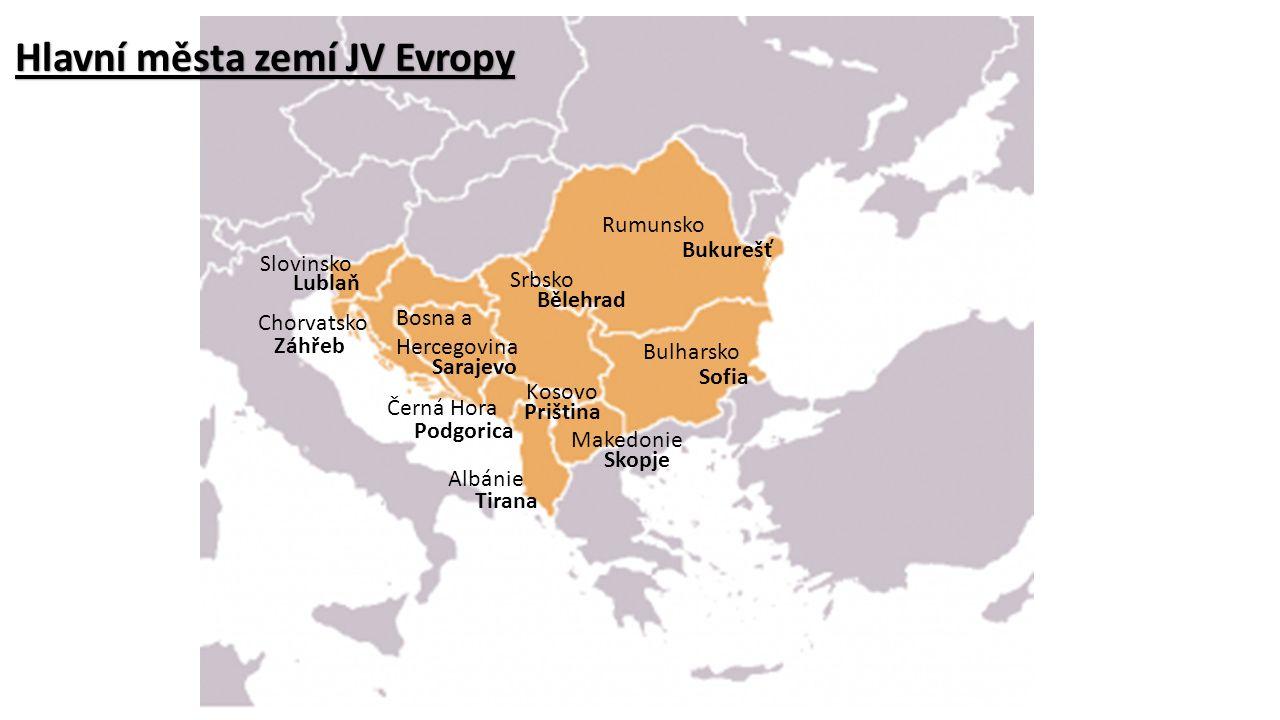 Hlavní města zemí JV Evropy