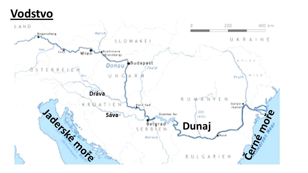 Vodstvo Dráva Sáva Dunaj Černé moře Jaderské moře
