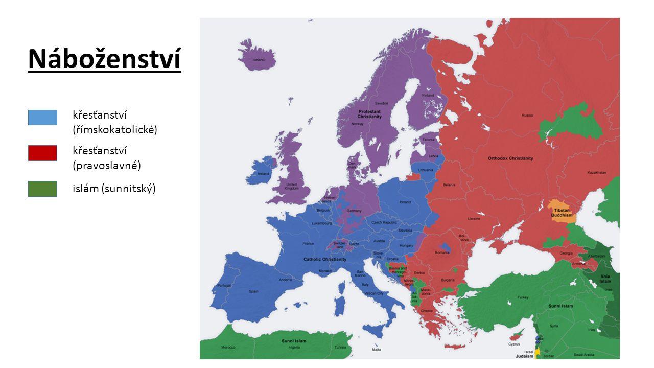 Náboženství křesťanství (římskokatolické) křesťanství (pravoslavné)