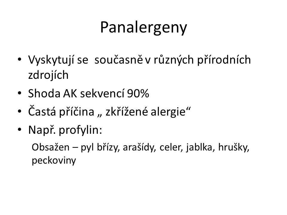 Panalergeny Vyskytují se současně v různých přírodních zdrojích