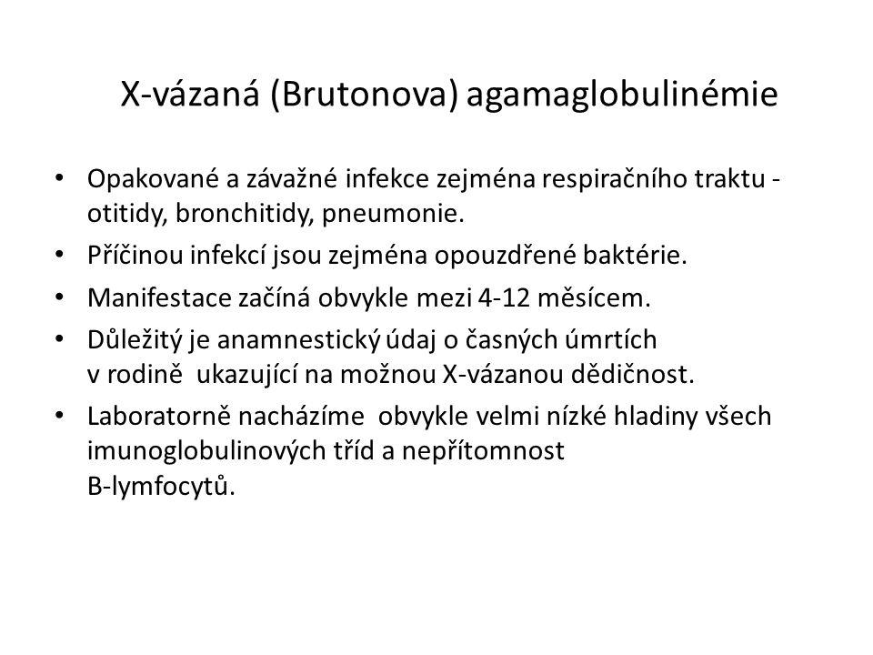 X-vázaná (Brutonova) agamaglobulinémie