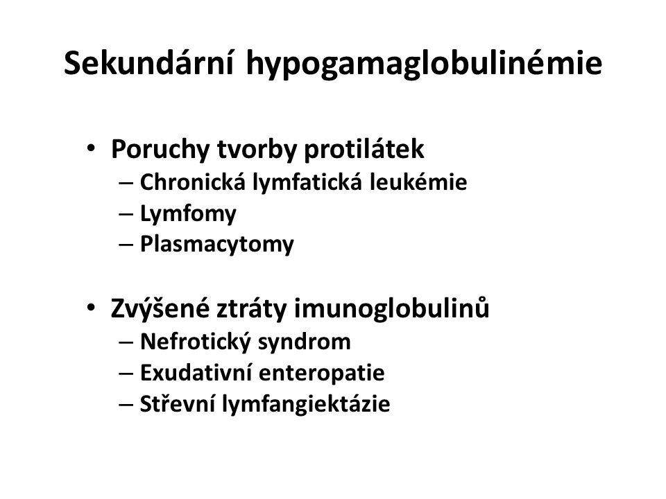 Sekundární hypogamaglobulinémie