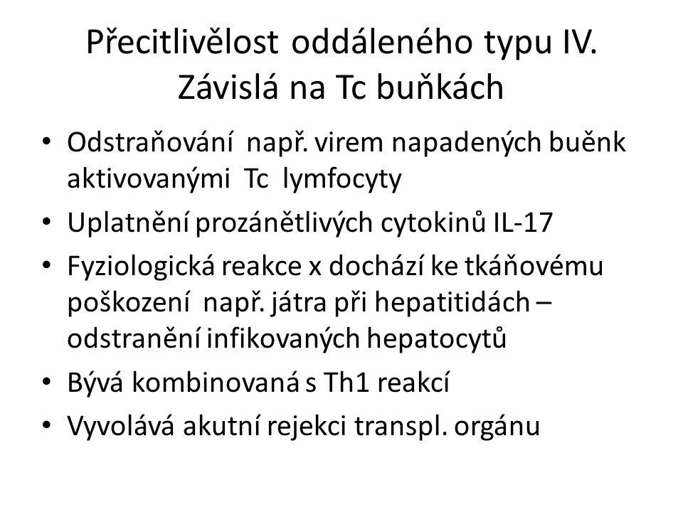 Přecitlivělost oddáleného typu IV. Závislá na Tc buňkách